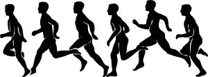 Running Exercise clip art medium